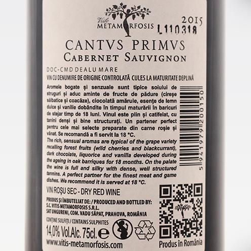CANTUS PRIMUS CABERNET SAUVIGNON 2015