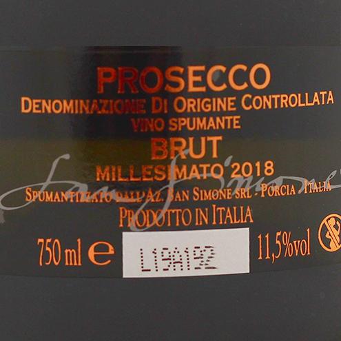 PERLAE NAONIS BRUT PROSECCO MILLESIMATO 2018- detaliu