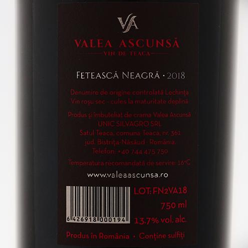 VALEA ASCUNSA FETEASCA NEAGRA 2018