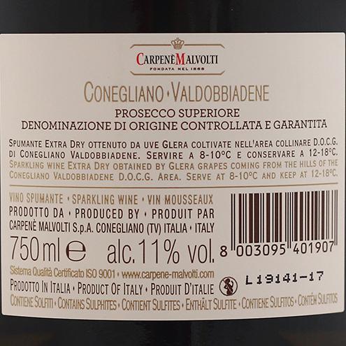 CONEGLIANO VALDOBBIADENE PROSECCO SUPERIORE EXTRA DRY
