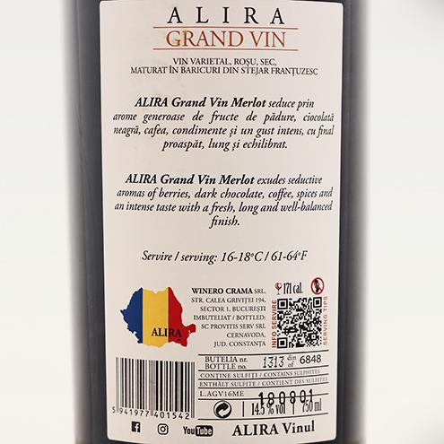ALIRA GRAND VIN MERLOT 2016