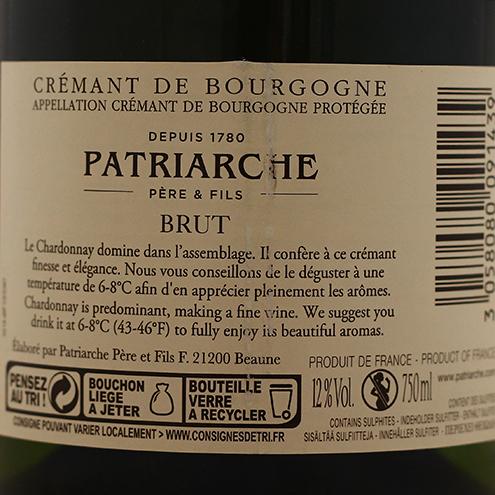 CREMANT DE BOURGOGNE PATRIARCHE BRUT