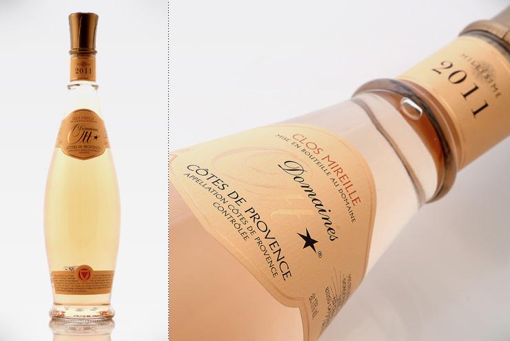 Bouteille de vin rosé domaine Ott - Clos Mireille.